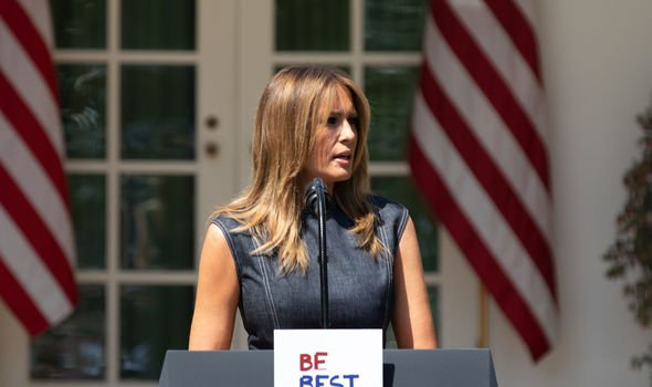 Melania made the speech in 2016