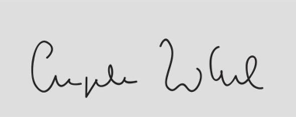 Angela Merkel's handwriting