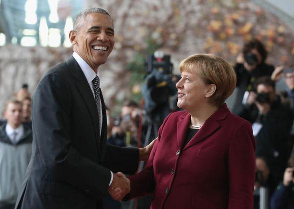 Merkel and Obama