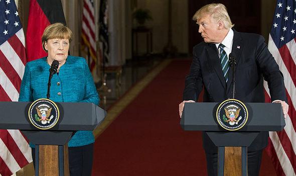 Merkel Trump swipe Japan