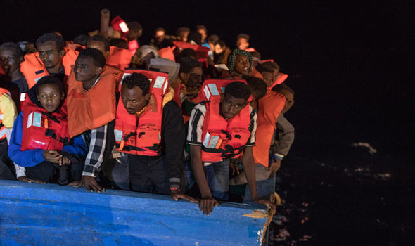 Migrants on boats