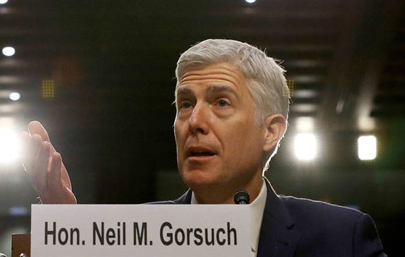 Neil Gorsuch responds to a question