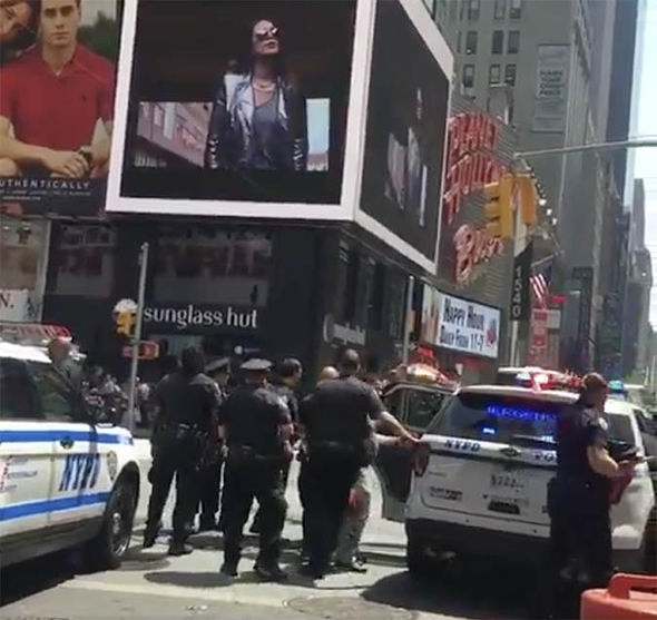 Video stills of Times Square Attack