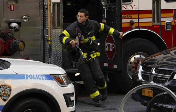 New York terror attack: A fireman arrives