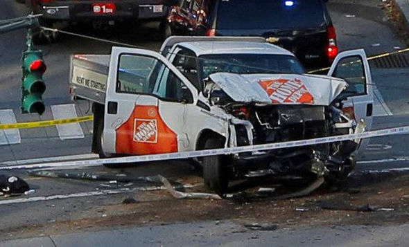New York terror attack: The Home Depot truck