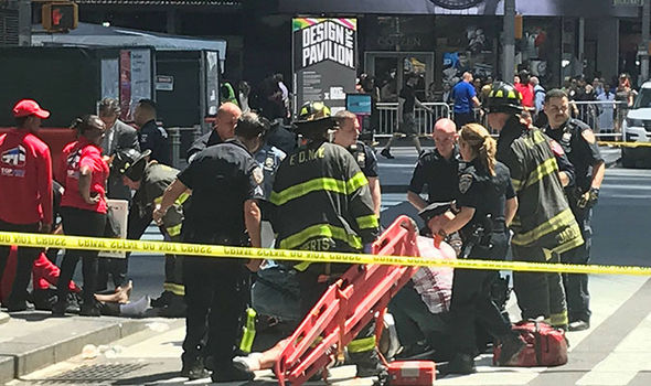 Terror in New York as car hits pedestrians