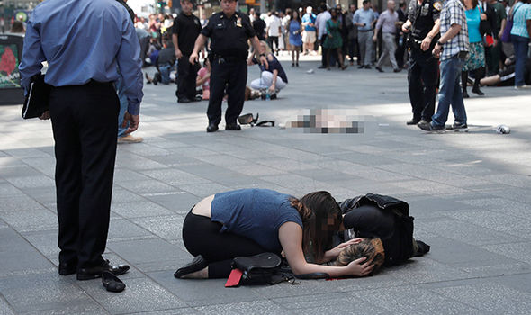 Victims on the floor in New York
