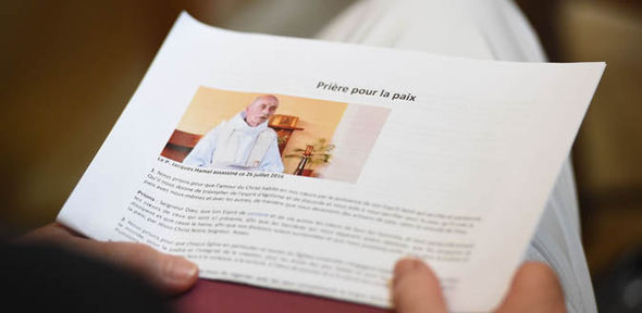 Normandy Church terror ISIS Father Jacques victim holy honour Pope Francis