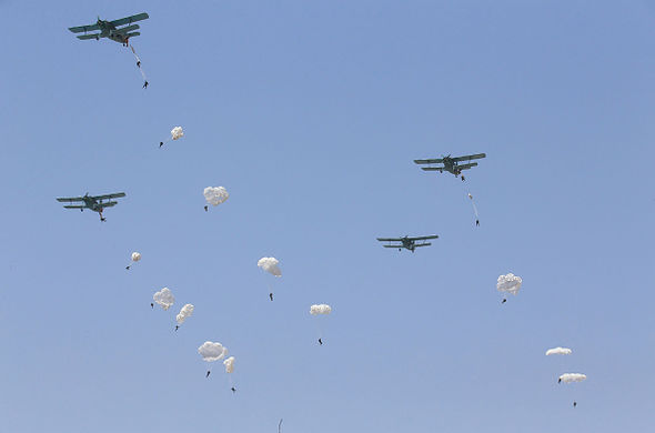 The North Koreans have been training their paras