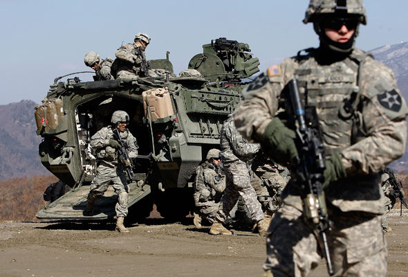 The US has 28,500 troops station in South Korea to counter threats from Pyongyang