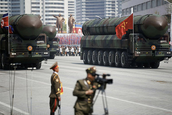 The suspected ICBM being parade in Pyongyang