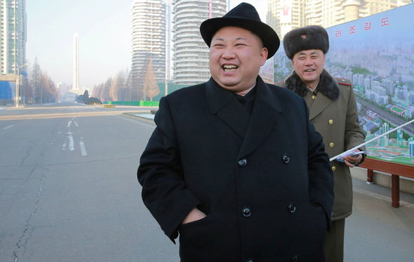 Kim Jong-un on an empty street