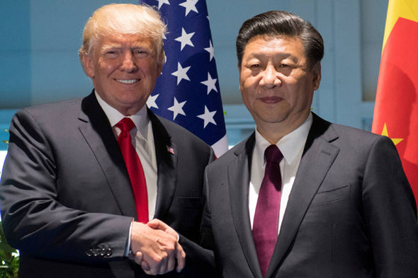 North Korea vs USA: Donald Trump and Xi Jinping   North Korea v USA news live: Donald Trump threatens Kim Jong-un – latest threats | World | News North Korea vs USA Trump Xi 1030473