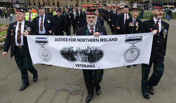 Northern Ireland soldiers Troubles rallies Frankenstein Justice system veterans