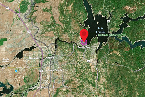 Oroville dam location