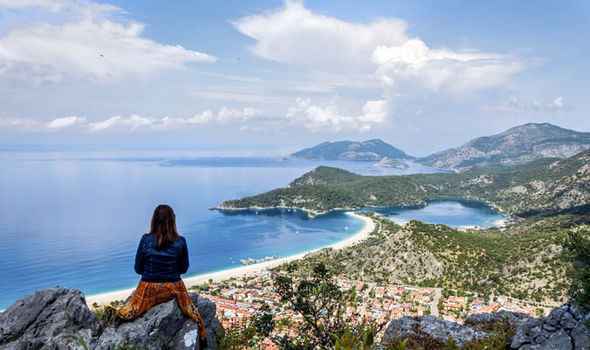 The coastline at Ovacik, Fethiye
