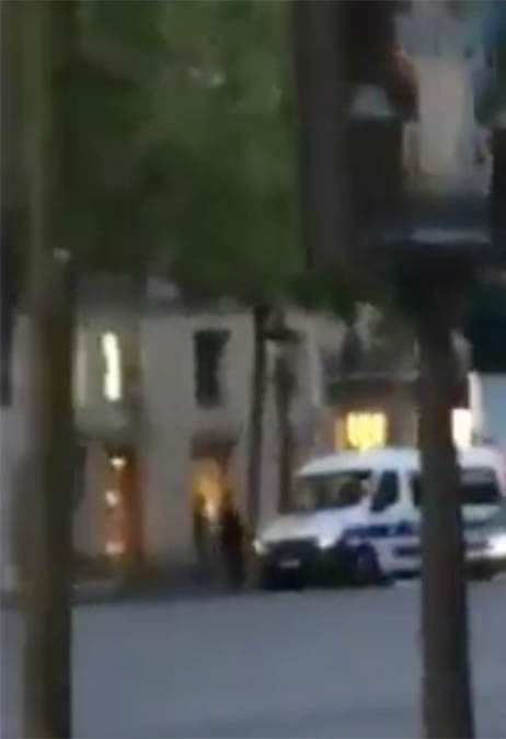 Footage of Paris shooting on Champs Elysees