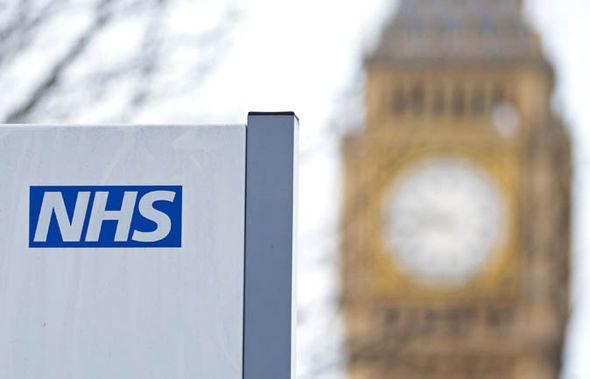 An NHS sign