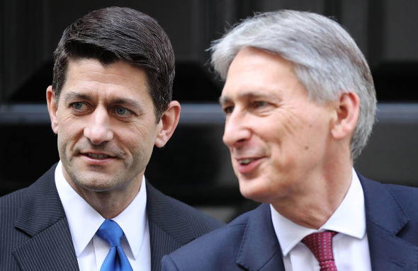 Paul Ryan and Chancellor Philip Hammond