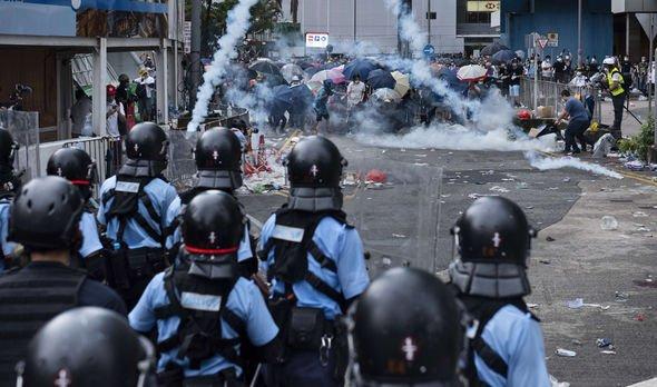 Police protests Hong Kong