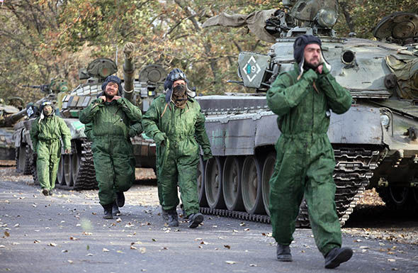 Pro-Russian separatist soldiers in the Ukraine