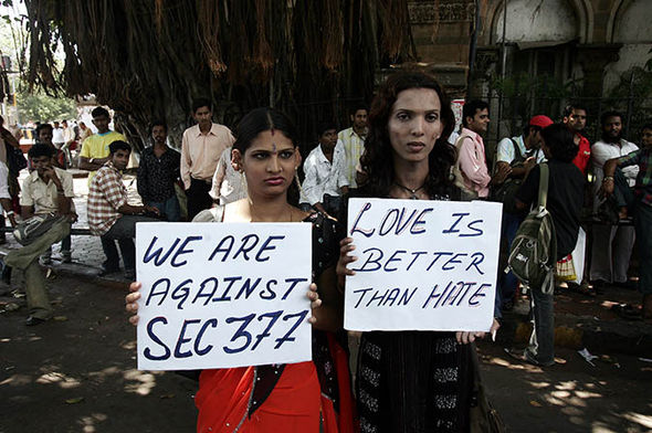 Protestors against section 377