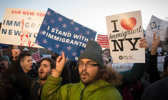Protests against Trump's migrant policy have been seen across the US