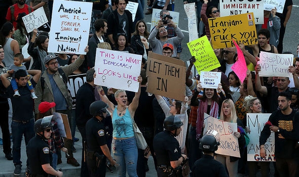 Protests at Los Angeles International Airport