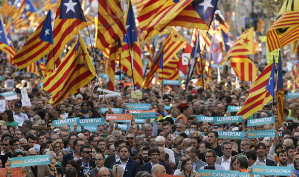 Protests have been sparked all over Catalonia