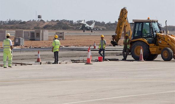 RAf runway