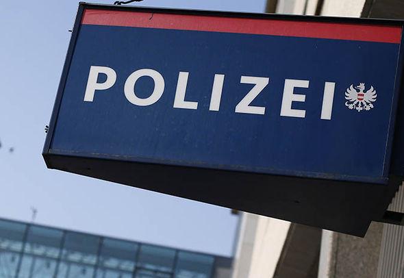 An Austrian police sign