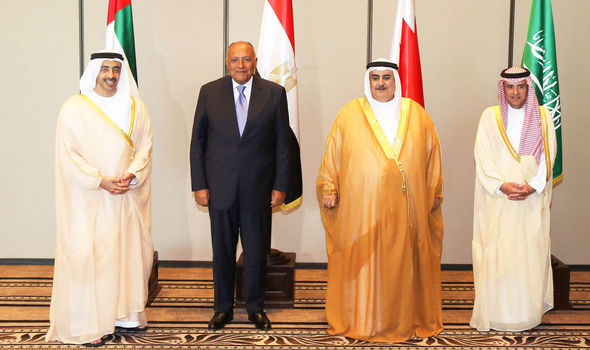 MINISTERS OF THE FOUR ARAB NATIONS