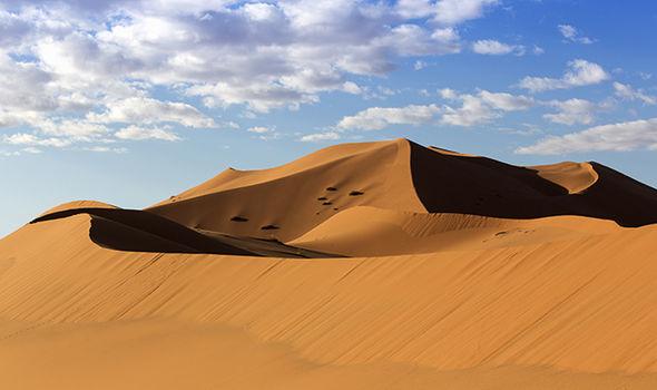 Sahara ice snow desert