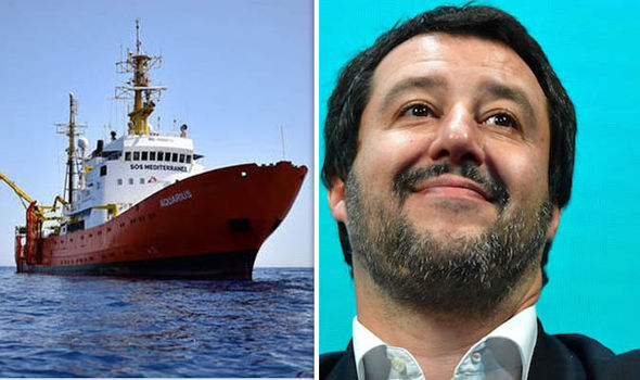Matteo Salvini has demanded an apology ferom France after Italy turned away a migrant boat