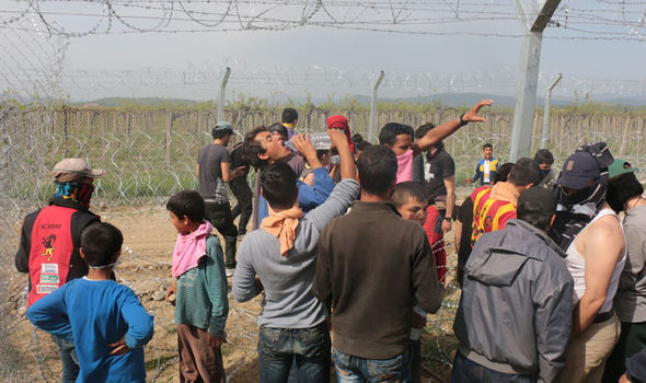 Migrants have clashed with police in Idomeni