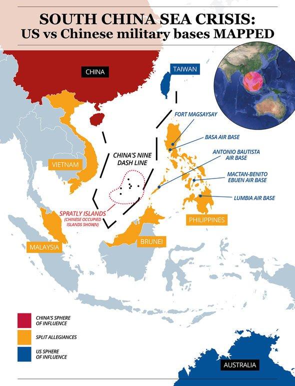 Map of the South China Sea crisis