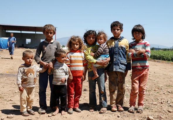 Syrian refugee chidren