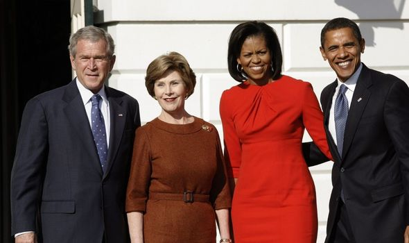 The Obamas and the Bushs