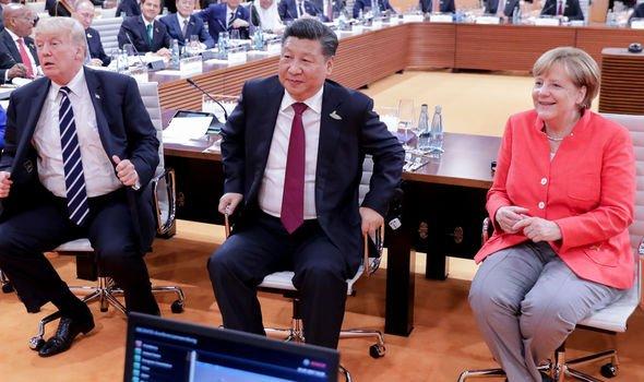 Trump Xi Jinping Merkel