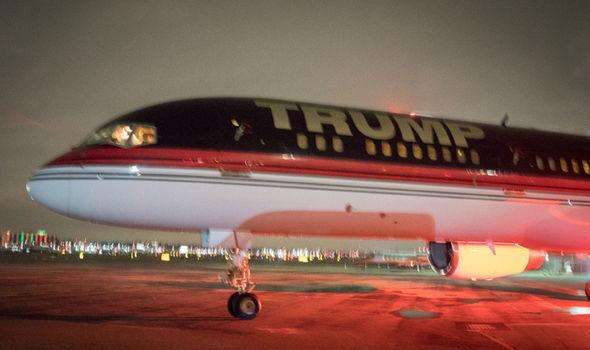 Trump aeroplane
