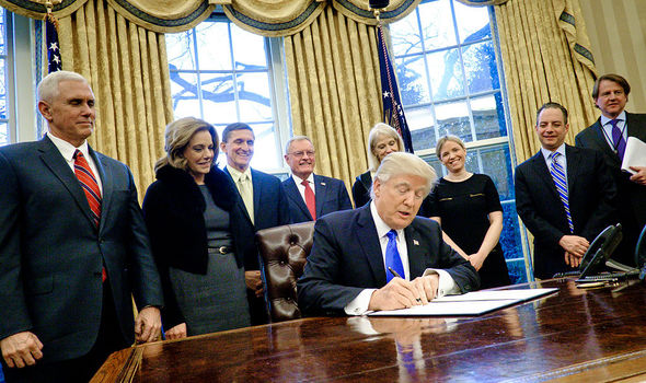 Trump signing executive order