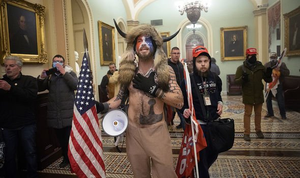 Trump supporter in the Capitol