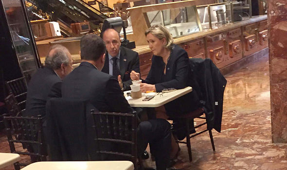Aliot and Marine Le Pen close to Trump Tower