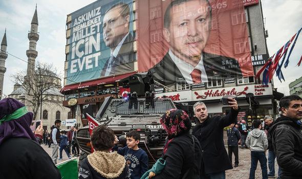 President Recep Tayyip Erdogan poster
