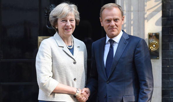 Donald Tusk Theresa May