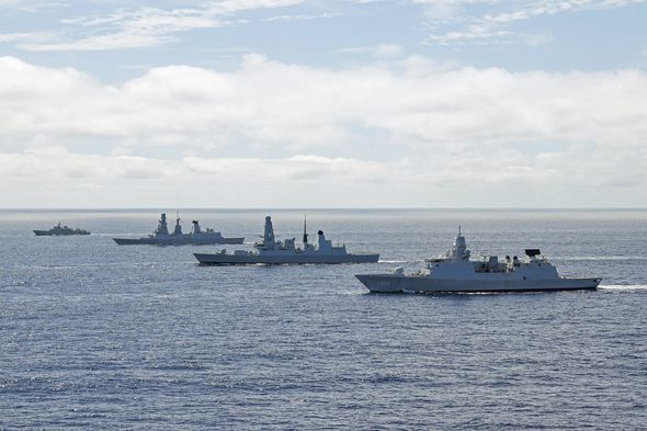 UK shows off its maritime strength with huge exercise