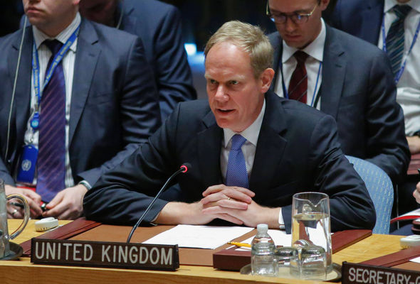 UK ambassador to the UN Matthew Rycroft said Russia's support of Assad was