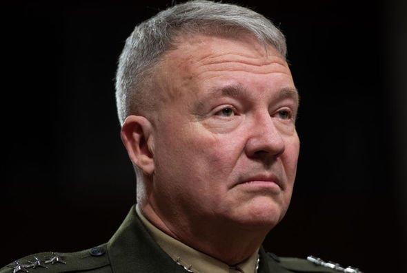 US Marine General Kenneth McKenzie