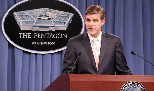 US Pentagon spokesman Peter Cook