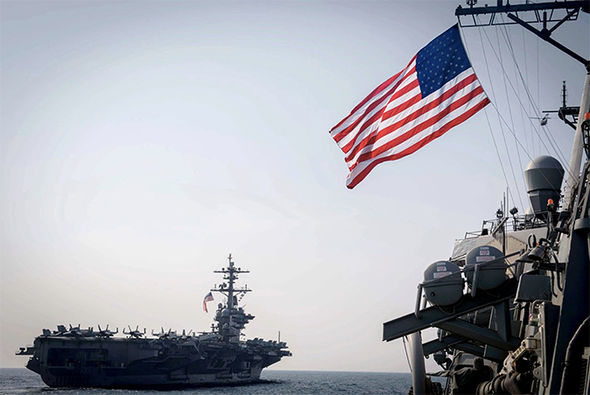 USS Carl Vinson en route to Korean peninsula